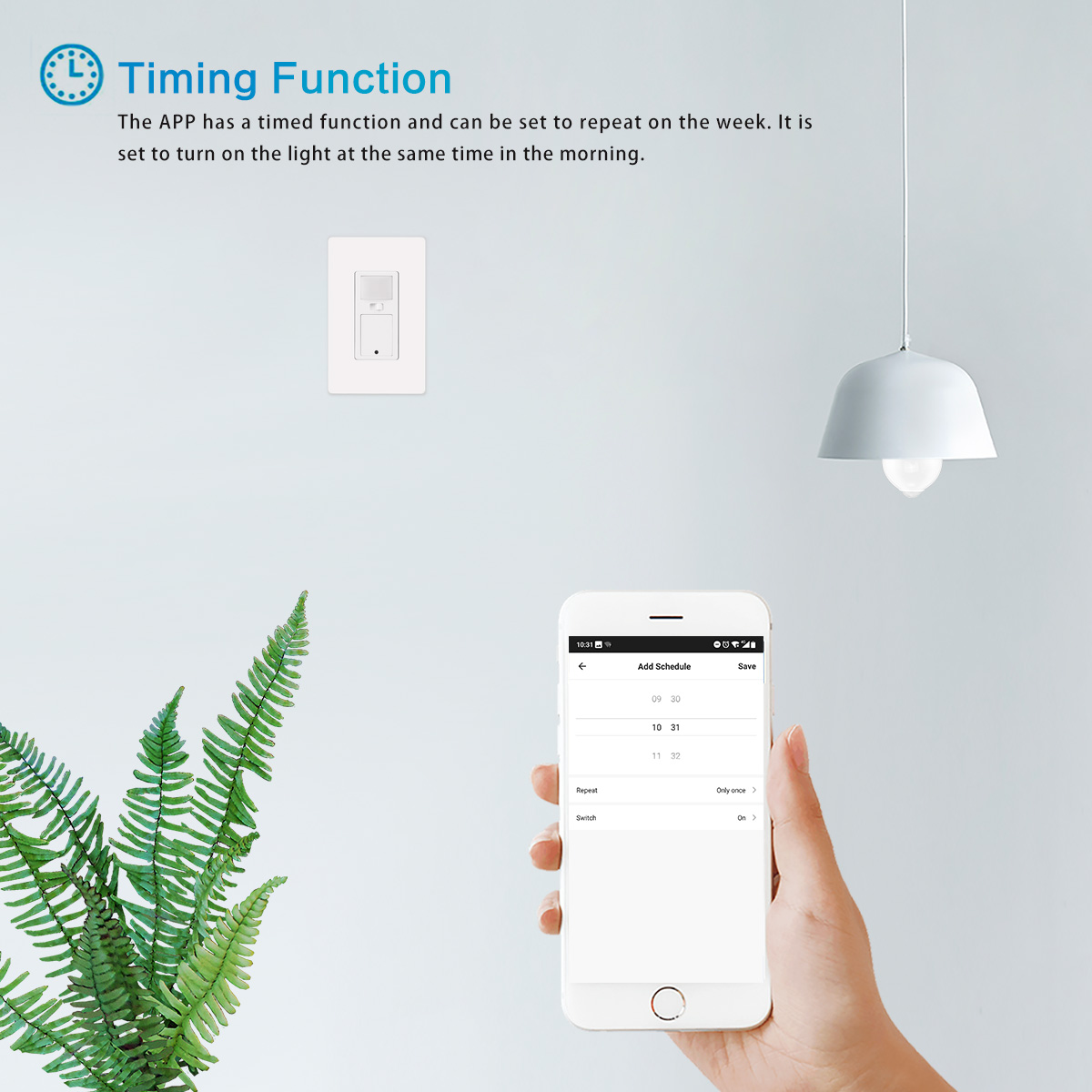 Wall Mount Smart Switch In Wall Phone Remote Control Light