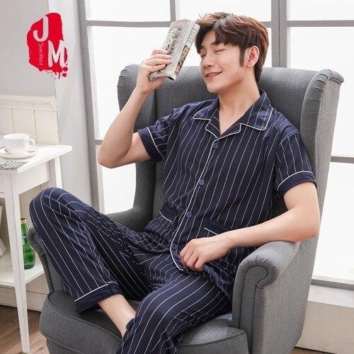 Men Pyjamas Male Clothing Shorts Cottonspring Summer Home Autumn XXXL Leisure