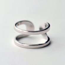 цены 925 Sterling Silver Rings For Women Double smooth Open Ring Hypoallergenic Sterling Silver Jewelry Gifts For Girls
