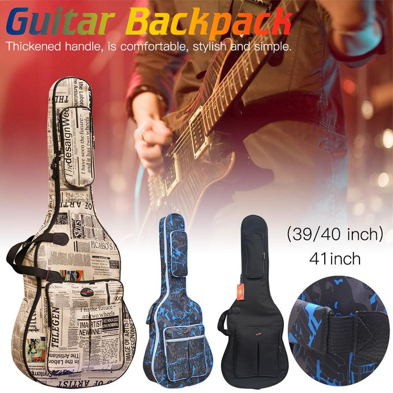 Fashionable Style Waterproof Thickening Musical Instrument Pack Suitable For 39 / 40 / 41 Inch Guitar Music Box Bag