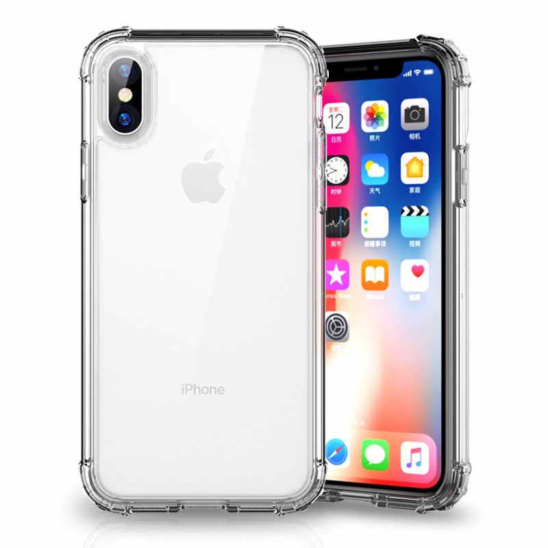 Capa de silicone transparente para iphone, capinha macia de luxo à prova de choque para iphone x, xs, 11, pro, max, xr, 6, 7 8 plus 11 tampa traseira