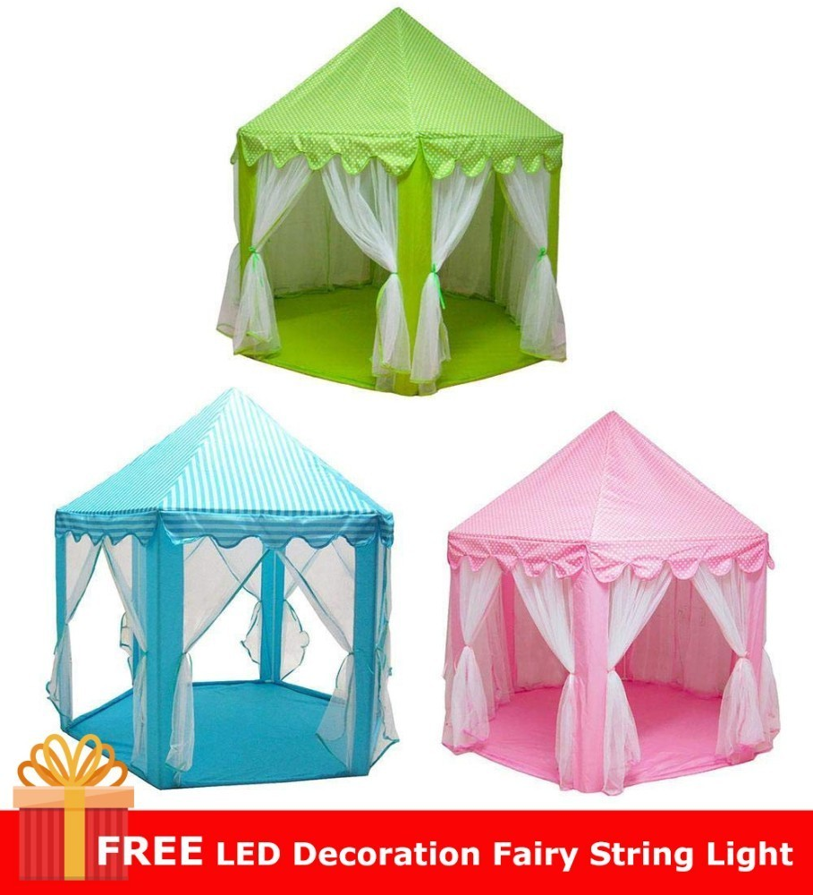 Free Star Lights! Children Portable Tent Indoor Princess Castle Toy Ball Pool Teepee Outdoor Fairy House Girls Boys Beach Tipi