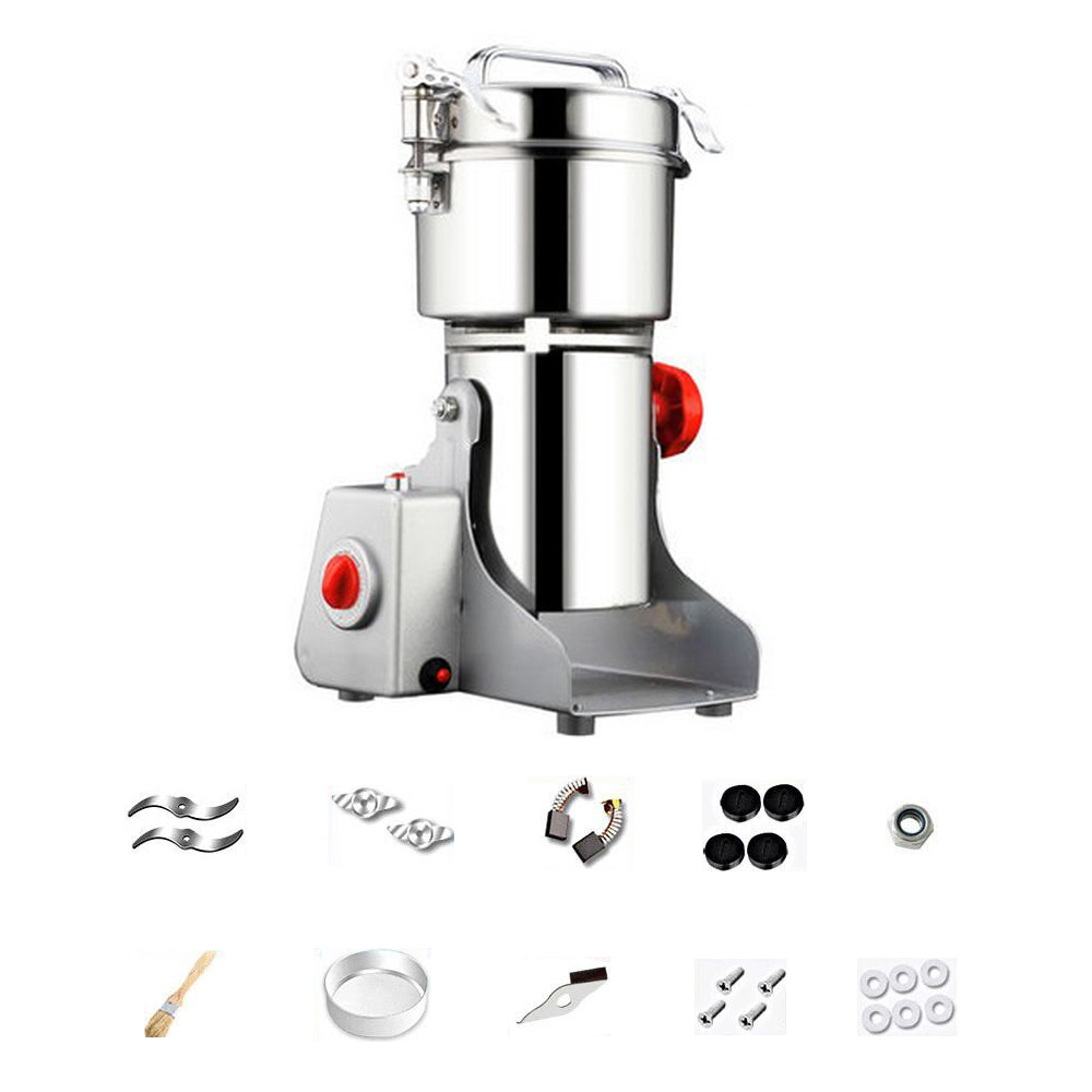 Electric Grain Spices Cereals Coffee Dry Food Mill Grinding Machines Gristmill Home Powder Crusher Grinder 700g electric stainless steel coffee dry food grinder mill grinding machine grain crusher food pepper herbal mill