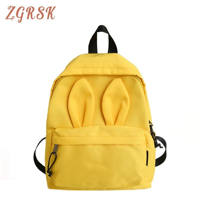 Student Nylon Women Backpack Bag Woman Students Cartoon Lovely High Middle School For Bagpack Girls Bags