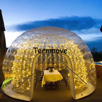 New Arrival Transparent one time Inflatable Bubble Dome Tent(double layer)inflatable coffee house camping bubble hotel
