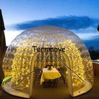 Nova chegada transparente uma vez inflável bolha dome tenda (dupla camada) casa de café inflável acampamento bolha hotel
