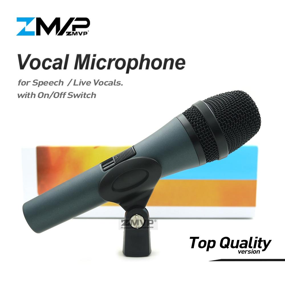 Top Qualité Professionnelle 845 Super-cardioïde karaoké Voix En Direct Dynamique Filaire Microphone Microfone Mike Mic avec on/off commutateur