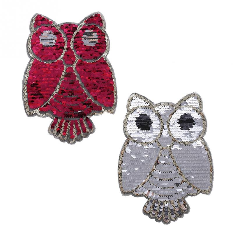 Apparel Accessories Diy Clothing Mending Accessory Embroidered Classic Clothes Sticker Owl Animal Reversible Sew On Patch Appliqued Badges