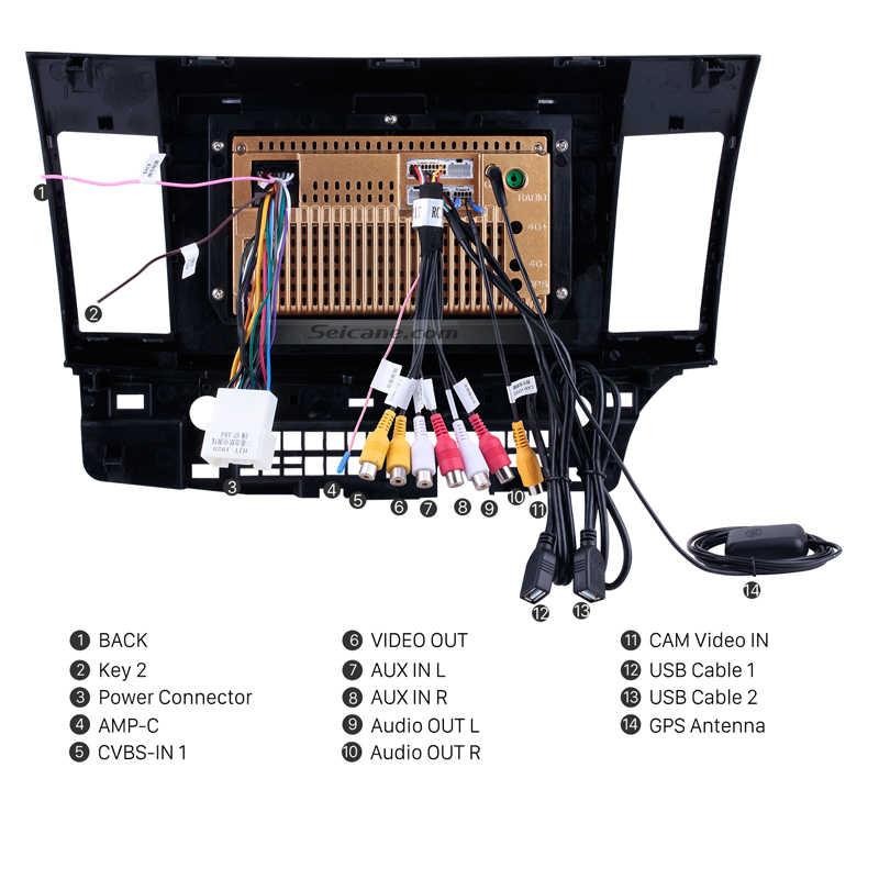 Seicane アンドロイド 8.1 10.1 インチ三菱ランサー-ex 2008 2009 2010 2015 ヘッドユニット GPS ナビオーディオマルチメディアプレーヤー