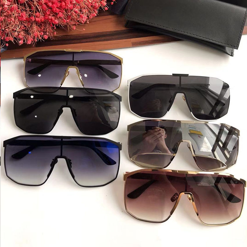 Dame Sonnenbrille amp; Neue Vintage Rahmen silver brown 2019 Marke Blue White Übergroßen And Brillen black Designer silver Großen Frauen royal So Grey Goggle Sams Gradienten Black Shades 1ntcYRcy