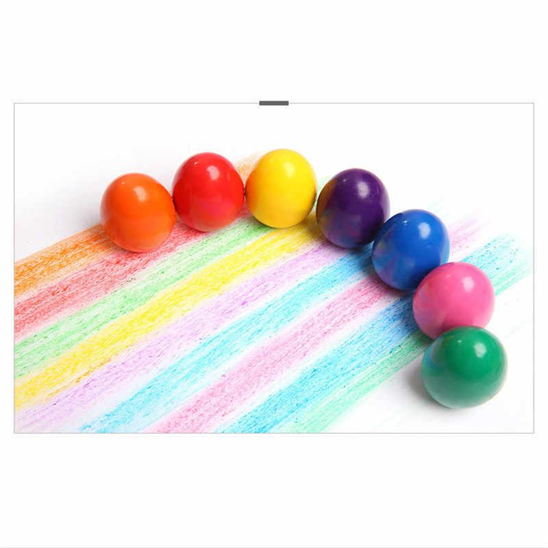 4 Pcs Uovo Pastelli 9 Colori Non-tossico Nuovi Bambini di Sicurezza Colorato Cera Disegno Evidenziatore Pittura Regalo Giocattoli Per dei Capretti dei bambini