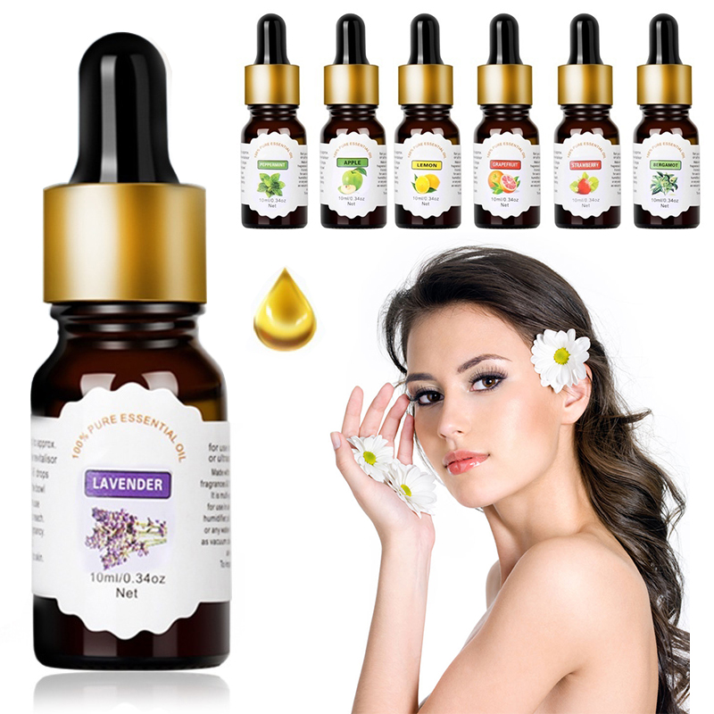 Pure Essential Oils For Aromatherapy Diffusers Flower Fruit Essential Oils Relieve Stress For Humidifier Skin Care TSLM1