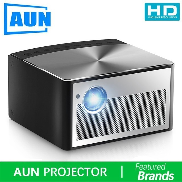 Special Offers Brand AUN Smart Projector H1, Build in Android, WIFI, Bluetooth. Support HDMI, USB, 1080P. MINI LED Projector Home Theater