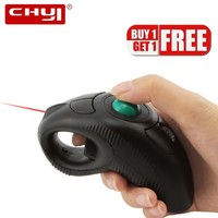 CHYI Wireless Ergonomic Trackball Laser Computer Mouse 3d Mini Handheld Optical Air Mause Portable PC Usb Mice For Laptop PPT
