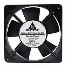 10pcs Gdstime Mental frame 12cm 120mm AC Cooling Fan 110V 120V x 25mm Exhasut