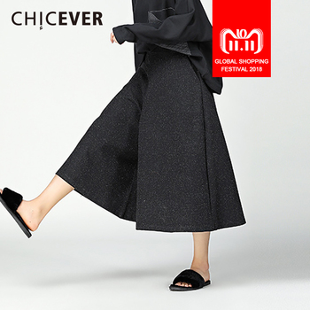 Pantalones negros Vintage de invierno CHICEVER para mujer Pantalones  sueltos talla grande Swing alta cintura Flare pantalones moda femenina  Casual 2017 7271e0db0d4c