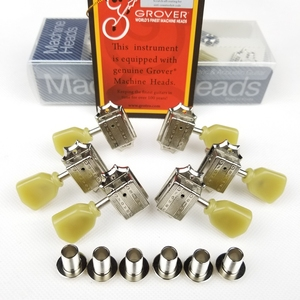 Image 2 - Genuine Grover Tuning Pegs Deluxe Vintage Style Guitar Machine Heads Tuners For 10mm lespaul Guitar Chrome Silver Made in China