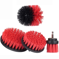 Bristle 4 Piece Drill Brush Nylon Cordless Drill Powered Spinning Brush Heavy Duty Scrubbing|Cleaning Brushes| |  -