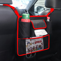 Creative Armrest Box Storage Bag Car Seat Central Control Storage Isolation Net Bag Multi Function Storage Hanging Bag