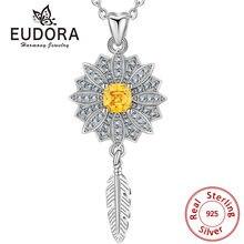 Женское Ожерелье с кулоном eudora из стерлингового серебра 925