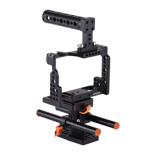 Image 4 - Andoer Camera Cage +Top Handle +15mm Rod Baseplate Kit Video Movie Making Stabilizer for Sony A7III/SII/M3/A7RII Camera