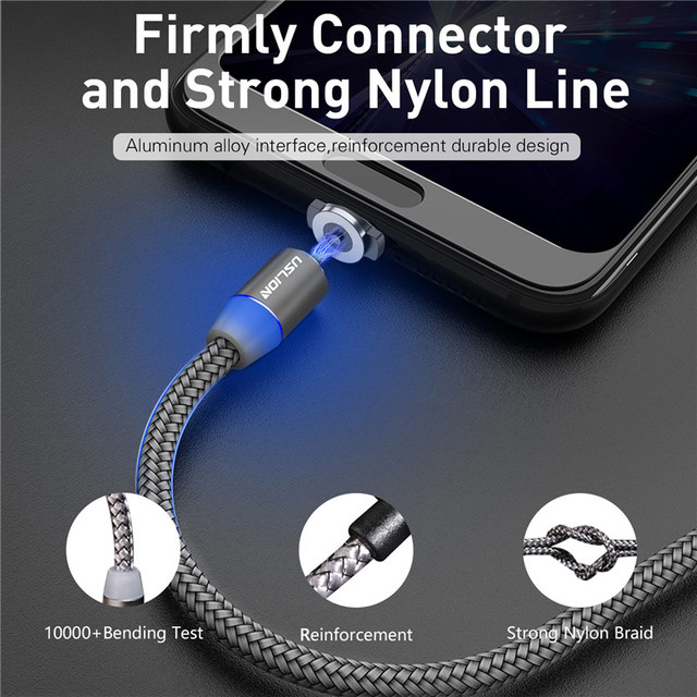 Magnetic USB Cable Fast Charging USB Type C Cable Magnet Charger Data Charge Micro USB Cable Mobile Phone Cable USB Cord 5