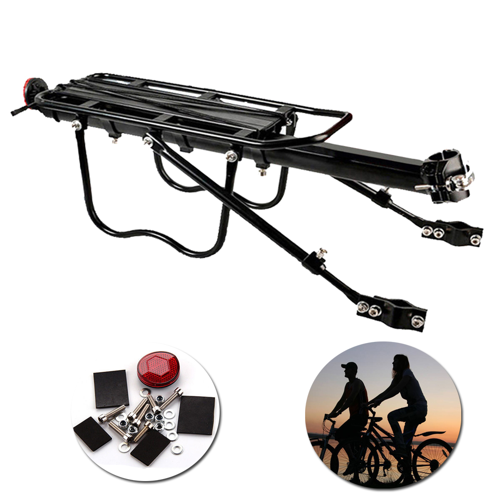 Bike Carrier Rack >> Us 19 46 42 Off Universal Bicycle Seatpost Rack Bike Carrier Rack Rear Frame Mounted Heavy Duty Cycle Accessory In Bicycle Frame From Sports