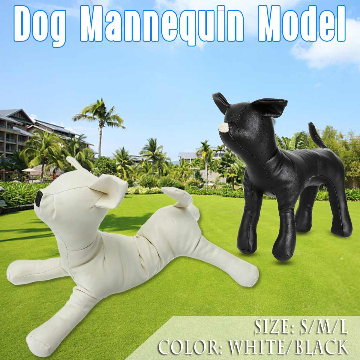 S/M/L PU Leather Dog Mannequin Model Apparel Clothing Display Standing Position 3 Size Toys Pet Animal Shop Display Legs Adjust