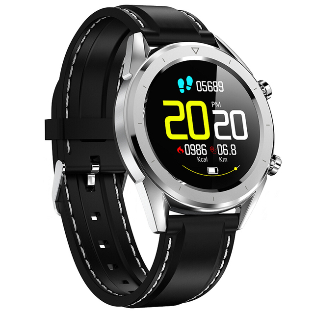 NO.1 DT28 Smart Watch 1.54″ NRF52832 64KB 512KB Heart Rate Monitor Step Count Sedentary Reminder IP68 Waterproof Smartwatches
