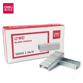 1 Box Metallic Silver 24/6 Staples Office Stationery Staple Binding Supplies Normal Staples Metal Tapetool