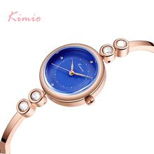 KIMIO Rhinestone Ladies Watches 2019 Crystal Watch Women Bangle Bracelet Watch For Women Stylish Designer Brand Luxury Women цена и фото