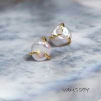 Vanssey Fashion Jewelry Cloud Natural Baroque Freshwater Pearl Stud Earrings Accessories for Women 2019 New
