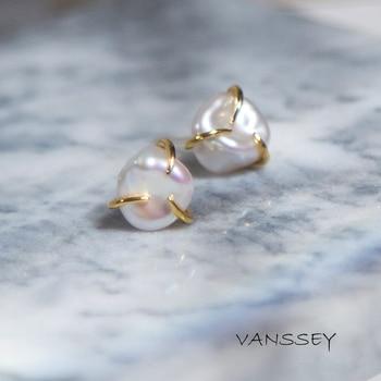 895c7ba173d6 Vanssey joyería de moda nube Natural barroco de perlas de agua dulce  pendientes accesorios para mujeres 2019 nuevo