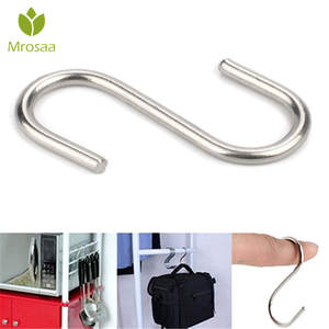 Mrosaa Hooks Clasp-Rack Shower-Curtain-Hook Bathroom-Product Hanger Stainless-Steel Multi-Function