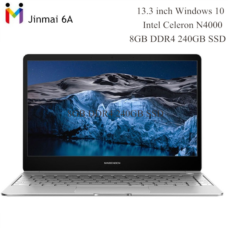 Maibenben Jinmai 6A Ultrabook 13.3'' 1920*1080 Windows 10 Laptop Intel N4000 Dual Core 1.1GHz 8GB RAM 240GB SSD 5000mAh Notebook