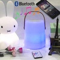 Mejor Lámpara de altavoz LED Bluetooth recargable de Control remoto reproductor de música inalámbrico portátil con mango