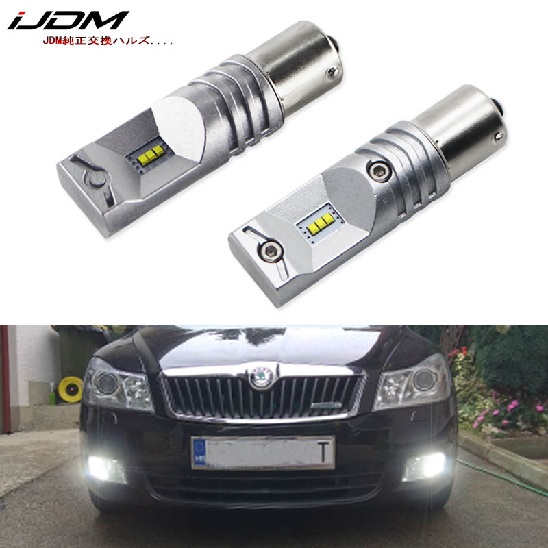 Ijdm Led-Bulb Daytime Running-Lights 1156 P21w No-Error Skoda Superb Canbus Octavia 2