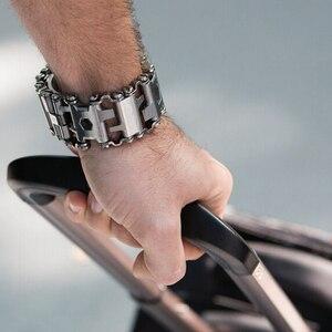 Image 2 - Voor Samsung Galaxy Horloge 46mm Gear S3 Stalen Metalen Tool Horlogeband Horlogeband Armband Voor Garmin Fenix 3 HR 5X Horloge Band