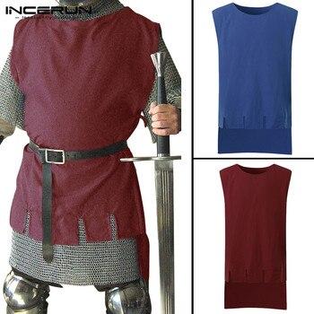 bd33fe3c25a3 Nuevos disfraces de Cosplay medievales hombres Caballero Guerrero ...