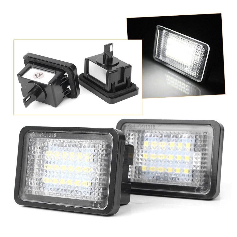 Çift LED plaka numarası aydınlatma ışıkları lisans lambası için Mercedes Benz GLK X204 GLK350 2008 2009 2010 2011 2012 2013 2014 2015