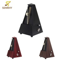 Electric Bass Guitar Accessories Guitarra Pyramid Mechanical Metronome Musical Tempo For Ukulele Stringed Instrument Parts