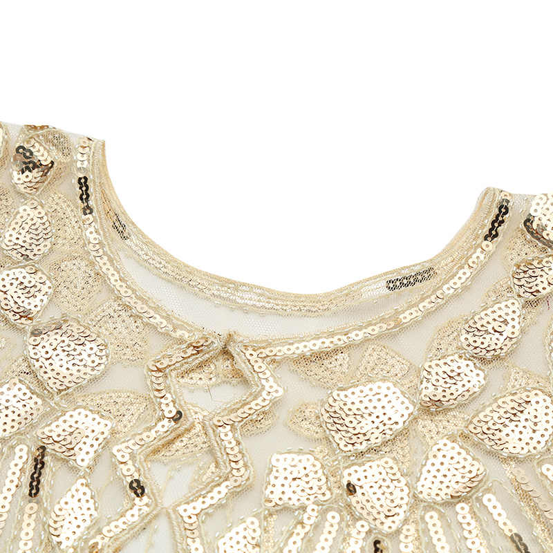 ... Vintage Women 1920s Sequin Shawl Poncho Fashion Sheer Mesh Shiny  Sequined Beading Scalloped Solid Evening Party 8c997dae0393