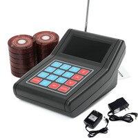 Ресторан пейджер Беспроводной подкачки система вызова 1 передатчик 999 канала с 10 пейджеры с подставкой оборудование для ресторана