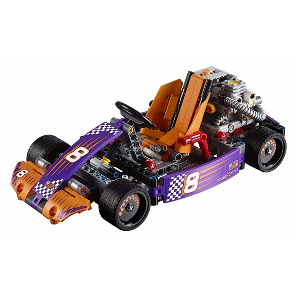 Toys & Hobbies 38003 345pcs 2in1 Technic Series Race Kart Car Lele Compatible 42048 Building Block Bricks Toy Making Things Convenient For The People