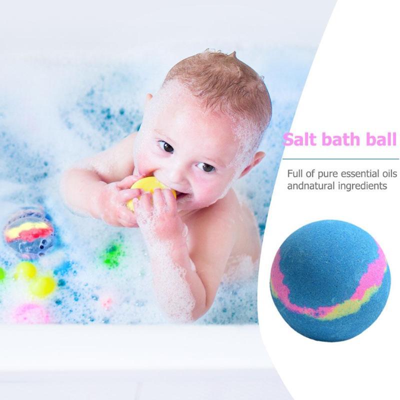 150g Bubble Bath Salt Ball Essential Oil Handmade Spa Stress Relief Bath Bomb Natural Exfoliating Ball
