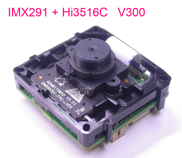 "Special LENs Intelligent Analysis H.265 / H.264 1/2.8"" Sony STARVIS IMX291 CMOS Hi3516C V300 IP CCTV camera PCB board module(FLT"