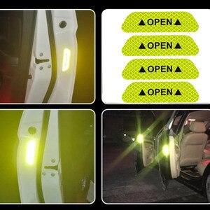 Image 3 - 4 個車のドアステッカーデカール警告テープ車反射ステッカー反射ストリップ車スタイリング 5 色安全マーク車のステッカー