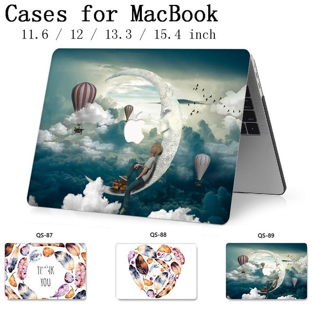 For Notebook MacBook Laptop Case Sleeve New For MacBook Air Pro Retina 11 12 13.3 15.4 Inch With Screen Protector Keyboard Cove