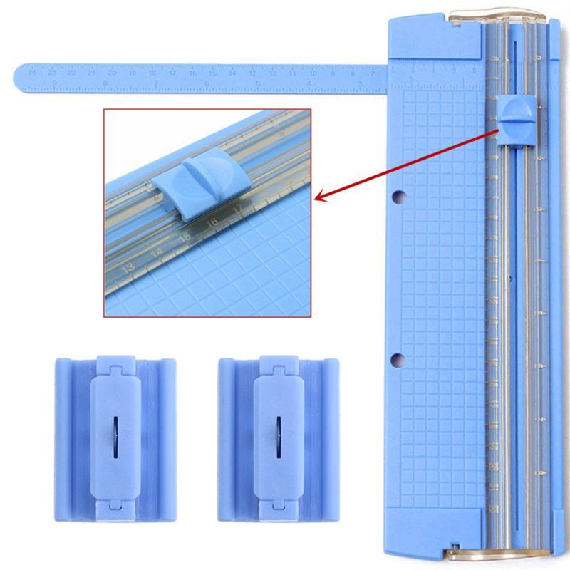 1pcs Portable Paper Trimmer Cutter Blade A4 Precision Paper Card Art Trimmer Photo Cutter Cutting Mat Blade