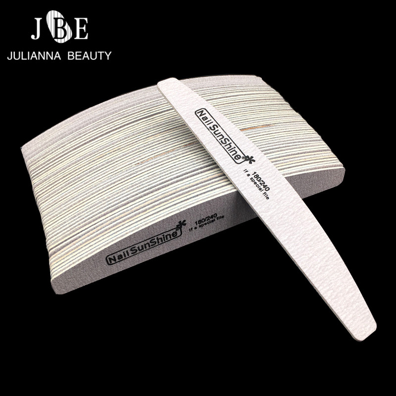50 Pcs/set Wood Nail File Nail Art Tool Dispoable Nail File 180/240 Wooden Emery Board Pedicure Tool Lime A Ongle